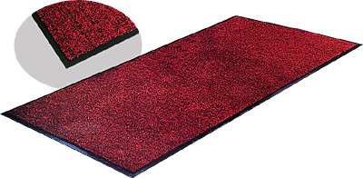 [ VINYL CARPET, 3' X 8', RED & B ]