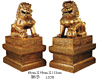 "[ LION SET, GOLD, 27"" X 39"" X 60.5""H ]"
