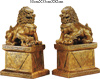 "[ LION SET, GOLD, 20"" X 13.2"" X 32.8""H ]"
