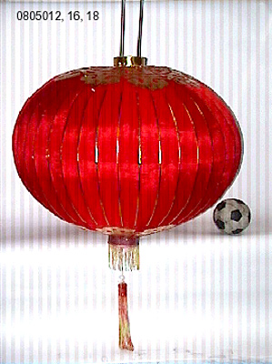 [ LANTERN, SILK, PLAIN RED, 16