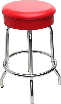 [ BAR STOOL, S/S BASE, VINYL SEA ]