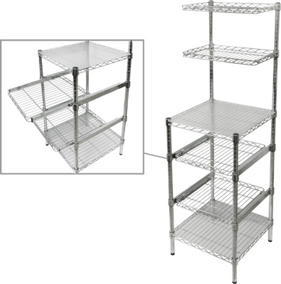 Restaurant Wire Shelving | Wire Shelving Chrome 18 X18 X62 1 2 H Restaurant Equipment And