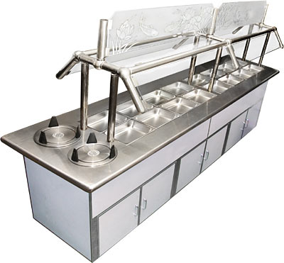 Awesome ICE COLD DELUXE BUFFET TABLE, 84