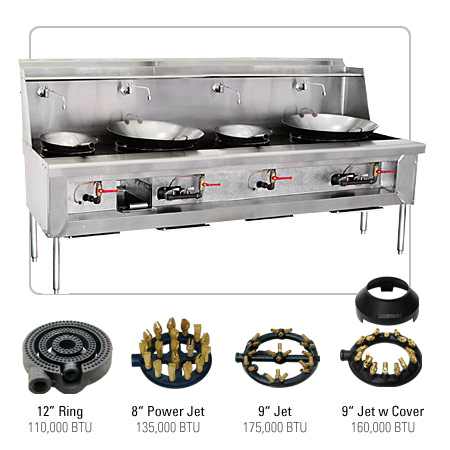 Chinese Restaurant Kitchen Equipment chinese stove,ca reg,4 burners,w/basket : restaurant equipment and