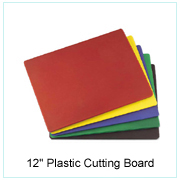 "12"" Plastic Cutting Board"