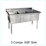 3 Comps NSF Sink