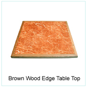 Brown Wood Edge Table Top