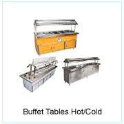 BUFFET TABLES HOT/COLD