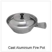CAST ALUMINIUM FIRE POT