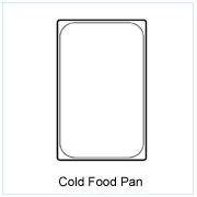 Cold Plastic Food Pan