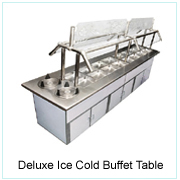 DELUXE ICE COLD BUFFET TABLE