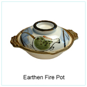 EARTHEN FIRE POT