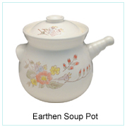 EARTHEN SOUP POT