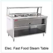 Elec. Fast Food Steam Table