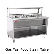Gas Fast Food Steam Table