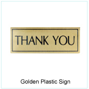 Golden Plastic Sign