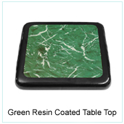 Green Resin Coated Table Top