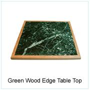 Green Wood Edge Table Top