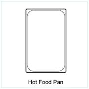 Hot Plastic Food Pan
