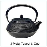 Japanese Metal Teapot & Cup