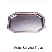 METAL SERVICE TRAYS