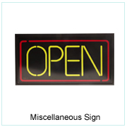 Miscellaneous Sign