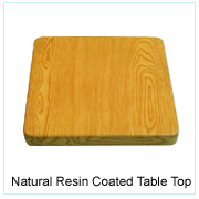 Natural Resin Coated Table Top