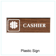 Plastic Sign