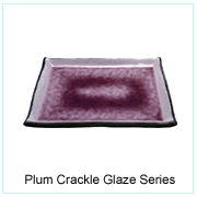 Plum Crackle Glaze Series