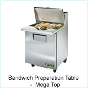 Sandwich Preparation Table-Mega Top