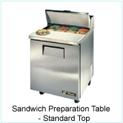 Sandwich Preparation Table-Standard Top
