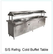 S/S Ice Cold Buffet Table