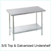 S/S Top & Galvanized Undershelf