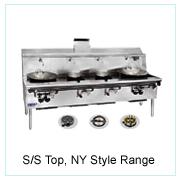 S/S Top, NY Style Range