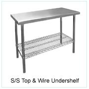 S/S Top & Wire Undershelf