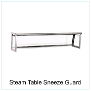 Steam Table Sneeze Guard