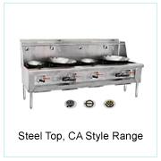 Steel Top, CA Style Range