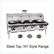 Steel Top, NY Style Range
