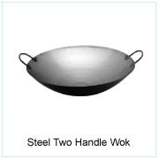 Steel Two Handle Wok
