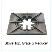 STOVE TOP, GRATE & REDUCER