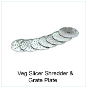 Veg. Slicer Shredder & Grate Plate