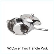 W/Cover Two Handle Wok