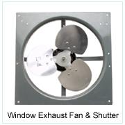 Window Exhaust Fan And Shutter